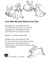 Five Little Bunnies Rhyme