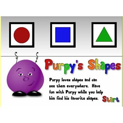 Online shapes learning game