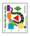 Sally Snake shapes emergent reader book