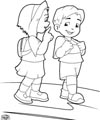 Get ready for school and back to school preschool and for Miss bindergarten coloring pages