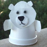 Craft Ideas Kindergarten on Polar Bear Puppet