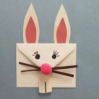 Easter Bunny Envelope Craft For Preschool And Kindergarten