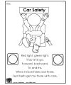 Seatbelt safety coloring